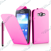 Samsung Galaxy S3 mini i8190/ i8200 VE: Accessoire Etui Housse Coque Pochette simili cuir + Stylet - ROSE-PALE