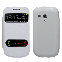 Samsung Galaxy S3 mini i8190/ i8200 VE: Accessoire Coque Etui Housse Pochette Plastique View Case - BLANC
