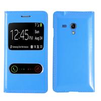 Samsung Galaxy S3 mini i8190/ i8200 VE: Accessoire Coque Etui Housse Pochette Plastique View Case - BLEU