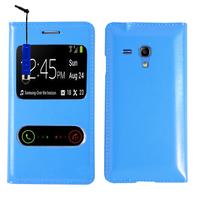 Samsung Galaxy S3 mini i8190/ i8200 VE: Accessoire Coque Etui Housse Pochette Plastique View Case + mini Stylet - BLEU