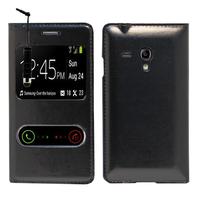 Samsung Galaxy S3 mini i8190/ i8200 VE: Accessoire Coque Etui Housse Pochette Plastique View Case + mini Stylet - NOIR