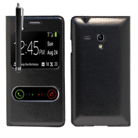 Samsung Galaxy S3 mini i8190/ i8200 VE: Accessoire Coque Etui Housse Pochette Plastique View Case + Stylet - NOIR