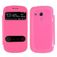 Samsung Galaxy S3 mini i8190/ i8200 VE: Accessoire Coque Etui Housse Pochette Plastique View Case - ROSE