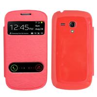 Samsung Galaxy S3 mini i8190/ i8200 VE: Accessoire Coque Etui Housse Pochette Plastique View Case - ROUGE