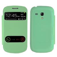 Samsung Galaxy S3 mini i8190/ i8200 VE: Accessoire Coque Etui Housse Pochette Plastique View Case - VERT