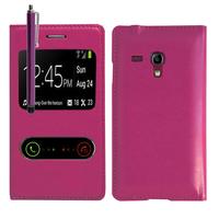 Samsung Galaxy S3 mini i8190/ i8200 VE: Accessoire Coque Etui Housse Pochette Plastique View Case + Stylet - VIOLET