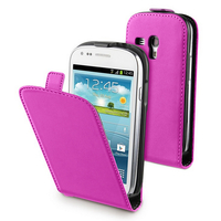 Samsung Galaxy S3 mini i8190/ i8200 VE: Accessoire Housse coque etui cuir fine slim - ROSE