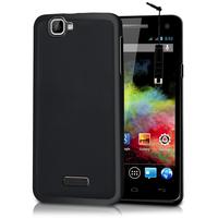 Wiko Rainbow 4G: Accessoire Housse Etui Pochette Coque silicone gel + mini Stylet - NOIR
