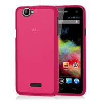Wiko Rainbow 4G: Accessoire Housse Etui Pochette Coque silicone gel - ROSE