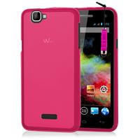 Wiko Rainbow 4G: Accessoire Housse Etui Pochette Coque silicone gel + mini Stylet - ROSE