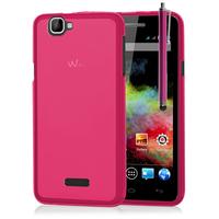 Wiko Rainbow 4G: Accessoire Housse Etui Pochette Coque silicone gel + Stylet - ROSE