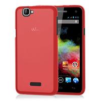 Wiko Rainbow 4G: Accessoire Housse Etui Pochette Coque silicone gel - ROUGE
