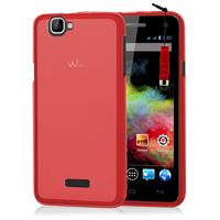 Wiko Rainbow 4G: Accessoire Housse Etui Pochette Coque silicone gel + mini Stylet - ROUGE
