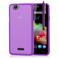 Wiko Rainbow 4G: Accessoire Housse Etui Pochette Coque silicone gel + Stylet - VIOLET