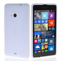 Microsoft Nokia Lumia 535/ 535 Dual SIM: Accessoire Housse Etui Pochette Coque S silicone gel - BLANC