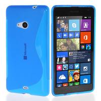 Microsoft Nokia Lumia 535/ 535 Dual SIM: Accessoire Housse Etui Pochette Coque S silicone gel - BLEU