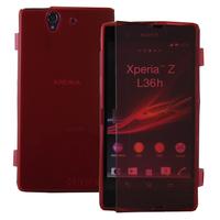 Sony Xperia Z L36h C6602 C6603: Accessoire Coque Etui Housse Pochette silicone gel Portefeuille Livre rabat - ROUGE