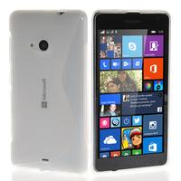 Microsoft Nokia Lumia 535/ 535 Dual SIM: Accessoire Housse Etui Pochette Coque S silicone gel - TRANSPARENT