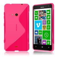Nokia Lumia 625: Accessoire Housse Etui Pochette Coque S silicone gel - ROSE