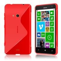Nokia Lumia 625: Accessoire Housse Etui Pochette Coque S silicone gel - ROUGE