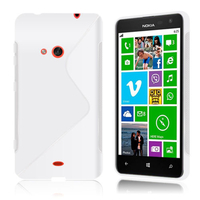 Nokia Lumia 625: Accessoire Housse Etui Pochette Coque S silicone gel - TRANSPARENT