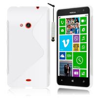 Nokia Lumia 625: Accessoire Housse Etui Pochette Coque S silicone gel + mini Stylet - TRANSPARENT
