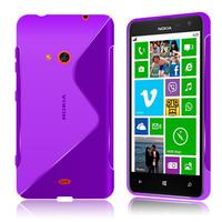Nokia Lumia 625: Accessoire Housse Etui Pochette Coque S silicone gel - VIOLET