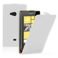 Nokia Lumia 625: Accessoire Housse coque etui cuir fine slim - BLANC