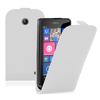 Nokia Lumia 630/ 635/ 638: Accessoire Housse coque etui cuir fine slim - BLANC