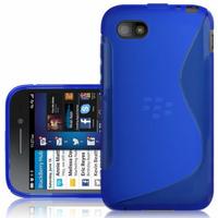 Blackberry Q5: Accessoire Housse Etui Pochette Coque S silicone gel - BLEU