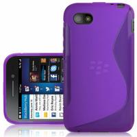 Blackberry Q5: Accessoire Housse Etui Pochette Coque S silicone gel - VIOLET