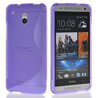 HTC One Mini M4/ 601/ 601e/ 601n/ 601s: Accessoire Housse Etui Pochette Coque S silicone gel - VIOLET