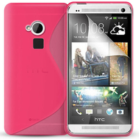 HTC One Max/ Dual Sim: Accessoire Housse Etui Pochette Coque S silicone gel - ROSE