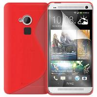 HTC One Max/ Dual Sim: Accessoire Housse Etui Pochette Coque S silicone gel - ROUGE