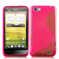 HTC One S/ Special Edition: Accessoire Housse Etui Pochette Coque S silicone gel - ROSE