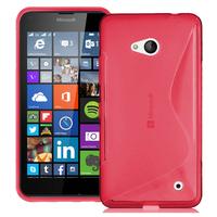 Microsoft Nokia Lumia 640 LTE/ 640 LTE Dual SIM/ 640 Dual SIM: Accessoire Housse Etui Pochette Coque S silicone gel - ROUGE