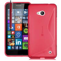 Microsoft Nokia Lumia 640 LTE/ 640 LTE Dual SIM/ 640 Dual SIM: Accessoire Housse Etui Pochette Coque S silicone gel + Stylet - ROUGE