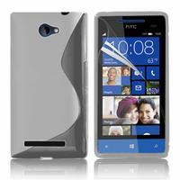 HTC Windows Phone 8S: Accessoire Housse Etui Pochette Coque S silicone gel - TRANSPARENT