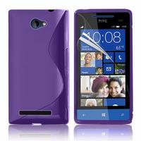 HTC Windows Phone 8S: Accessoire Housse Etui Pochette Coque S silicone gel - VIOLET
