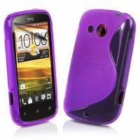 HTC Desire C A320E/ G7C: Accessoire Housse Etui Pochette Coque S silicone gel - VIOLET