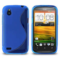 HTC Desire X T328E/ G7X: Accessoire Housse Etui Pochette Coque S silicone gel - BLEU