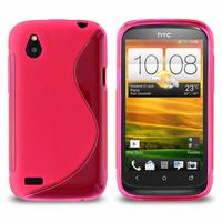 HTC Desire X T328E/ G7X: Accessoire Housse Etui Pochette Coque S silicone gel - ROSE
