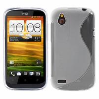 HTC Desire X T328E/ G7X: Accessoire Housse Etui Pochette Coque S silicone gel - TRANSPARENT
