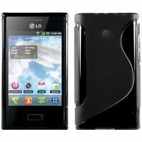 LG Optimus L3 E400: Accessoire Housse Etui Pochette Coque S silicone gel - NOIR