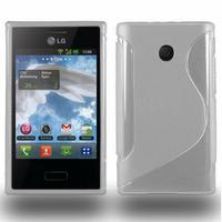 LG Optimus L3 E400: Accessoire Housse Etui Pochette Coque S silicone gel - TRANSPARENT