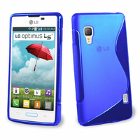 LG Optimus L5 II E460 (non compatible LG L5 II E455 Dual Sim): Accessoire Housse Etui Pochette Coque S silicone gel - BLEU