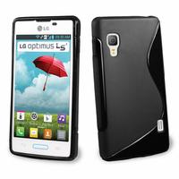 LG Optimus L5 II E460 (non compatible LG L5 II E455 Dual Sim): Accessoire Housse Etui Pochette Coque S silicone gel - NOIR
