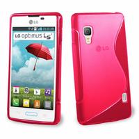 LG Optimus L5 II E460 (non compatible LG L5 II E455 Dual Sim): Accessoire Housse Etui Pochette Coque S silicone gel - ROSE