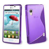 LG Optimus L5 II E460 (non compatible LG L5 II E455 Dual Sim): Accessoire Housse Etui Pochette Coque S silicone gel - VIOLET