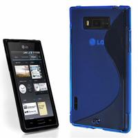 LG Optimus L7 P700/ P705: Accessoire Housse Etui Pochette Coque S silicone gel - BLEU